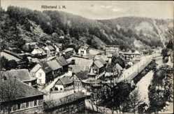 Ak Rübeland Oberharz am Brocken, Gesamtansicht der Stadt in den Bergen
