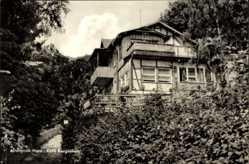 Ak Altenbrak Thale im Harz, Café Bergeshöh von außen gesehen