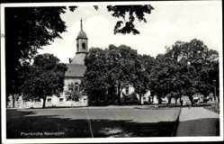 Postcard Neuruppin in Brandenburg, Blick auf die Pfarrkirche am Markt