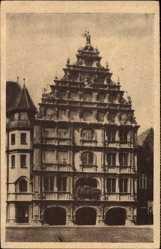 Postcard Braunschweig in Niedersachsen, Blick auf das Gewandhaus, WHW