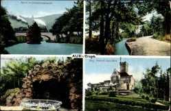 Ak Aue Erzgebirge, Albert Grotte, Friedrich August Warte, Schwarzwassertal
