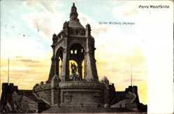 Ak Porta Westfalica in Nordrhein Westfalen, Kaiser Wilhelm Denkmal