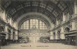 Postcard Frankfurt am Main, Inneres vom Hauptbahnhof, Vestibul