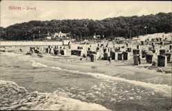Ak Ostseebad Göhren auf Rügen, Partie am Strand, kleine Welle