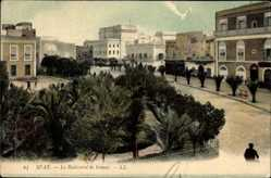Ak Sfax Tunesien, Le Boulevard de France, Parkanlage