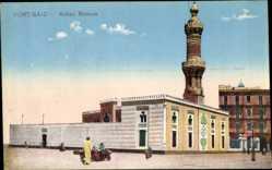 Postcard Port Said Ägypten, Abbas Mosque, Blick von außen auf die Moschee