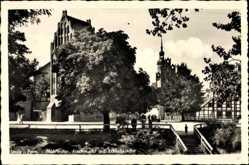 AkSłupsk Stolp Pommern, Mühlentor, Fischmarkt, Schlosskirche