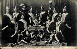 Ak Dortmund Ruhrgebiet, Elferrat der großen Allgem. Carnevals Gesellschaft,1911