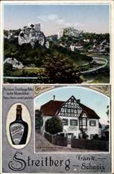 Ak Wiesenttal im Kreis Forchheim Oberfranken, Alte Kurhausbrennerei, Streitberg