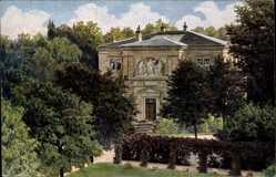 Künstler Ak Bayreuth in Oberfranken, Villa Wahnfried, Parkanlage