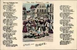 Künstler Lied Ak Kyritz in der Prignitz, Das neue Bassewitz Lied