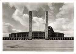 Ak Berlin Charlottenburg, Stadion im Reichssportfeld, Olympia 1936