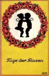 Heckel, Dora, Tage der Rosen, Küssende Feenwesen, Rosenkranz
