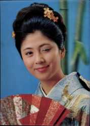 3 D Ak Erotik, Junge asiatische Frau, Asiatin, Zwinkern, Kimono, Japanerin