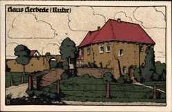 Steindruck Ak Herbede Witten an der Ruhr, Herrenhaus, Schloss