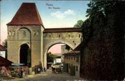 Postcard Toruń Thorn Westpreußen, Der Dansker, Tor, Pferdekarren