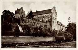 Postcard Georgenburg Insterburg Ostpreußen, Partie am Schloss