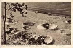 Postcard Wolin Wollin Pommern, Neuendorf, Strandburgen, Ostsee