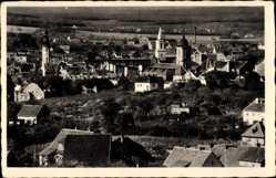 Postcard Zielona Góra Grünberg Schlesien, Blick über die Stadt, Kirchen