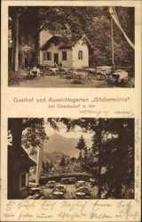 Postcard Oberaudorf im Kreis Rosenheim Oberbayern, Gasthof Gfallermühle, Biergarten