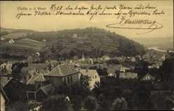Postcard Vlotho in Nordrhein Westfalen, Blick über die Dächer auf die Umgebung