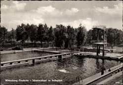 Postcard Piesteritz Lutherstadt Wittenberg in Sachsen Anhalt, Schwimmbad, Volkspark