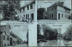Ak Günthersdorf Oschersleben an der Bode, Kirche, Schule, Schulzenamt, Gasthof