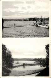 Postcard Triebel Trzebiel Niederlausitz Ostbrandenburg, Freibad Birkensee, Sprungturm