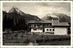 Postcard Strub Bischofswiesen in Oberbayern, Haus Bergluft, Watzmann, Hochkalter