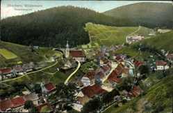 Postcard Wildemann im Oberharz, Gesamtansicht des Ortes mit Umgebung
