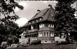 Postcard Lenzkirch Saig, Haus Faller, Hochscharzwald, Villa im Wald, Terrasse