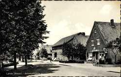 Postcard Lahde Petershagen Weser, Bahnhofstraße, Coca Cola Reklame