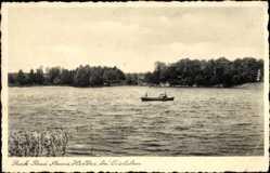 Postcard Mansfeld im Harzvorland, Park Bad Anna Helbra, Blick vom Wasser