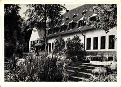 Postcard Dachsberg Landkreis Waldshut, Blick auf das Schullandheim, Treppe