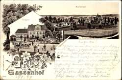 Litho Blankenrath Rheinland Pfalz, Gassenhof, Bes. D. Gass, Ort
