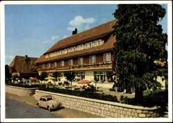 Postcard St. Märgen Schwarzwald, Hotel und Pension zum Hirschen