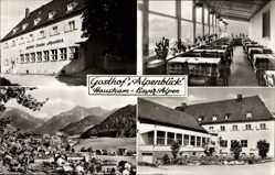 Postcard Hausham bayerische Alpen, Gasthof Alpenblick, Innenansicht