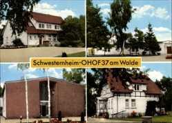 Postcard Ohof Meinersen Niedersachsen, Schwesternheim Ohof 37 am Walde