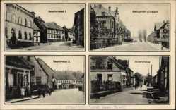 Postcard Waldmohr, Amtsgericht, Hauptstraße, Höcherstraße, Postamt