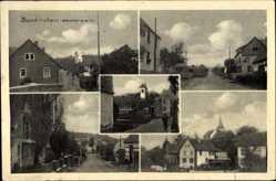 Postcard Neunkirchen Westerwald, Blick auf den Ort, Straßenpartien, Kirchturm