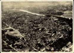 Postcard Minden in Ostwestfalen Lippe, Totalansicht der Ortschaft, Fliegeraufnahme