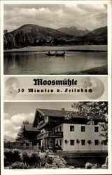 Postcard Moosmühle Bad Feilnbach im Kreis Rosenheim Oberbayern, Sommer Cafe, Berge