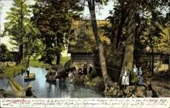 Ak Lehde Lübbenau im Spreewald, Bauernhof, Anwohner