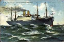 Postcard Dampfschiff Cincinnati, HAPAG, Fahrt auf hoher See