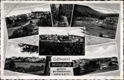 Postcard Hohegeiß Braunlage im Oberharz, Klippe auf dem Lampersberg, Freibad