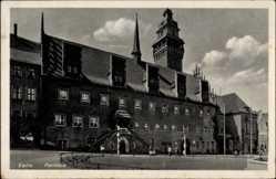 Postcard Zeitz an der Weißen Elster im Burgenlandkreis, Blick auf das Rathaus