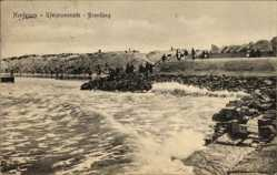 Postcard Norderney in Ostfriesland, Uferpromenade, Brandung, Meerpartie