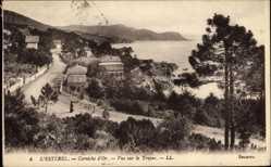 Postcard L'Estérel Var, Corniche d'Or, Vue sur le Trayas