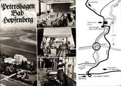 Landkarten Ak Petershagen Bad Hopfenberg an der Weser, Kurklinik, Schwimmbad
