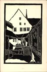 Künstler Ak Großberg, C., Nürnberg in Mittelfranken Bayern, Heil Geist Spital
